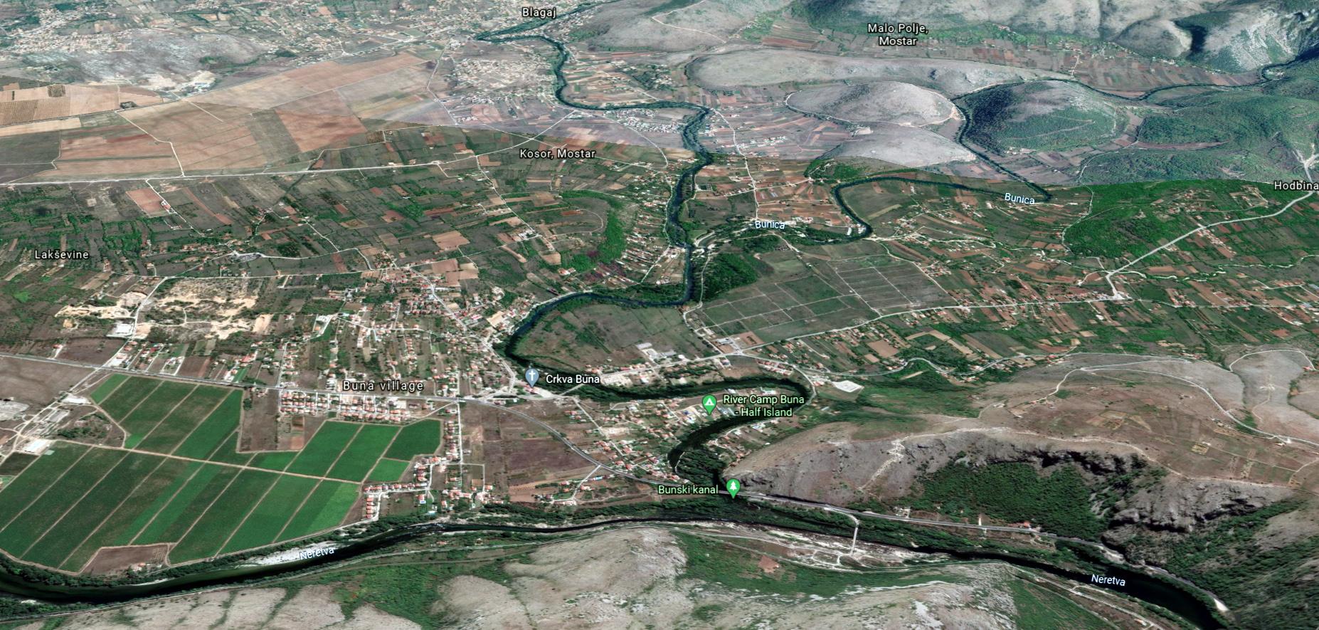 Zemljište uz rijeku bunu - odlična cijena